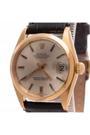 ROLEX DATEJUST OYSTER PERPETUAL 18K YELLOW GOLD 31MM REF: 6824
