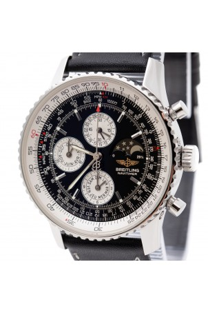 BREITLING NAVITIMER OLYMPUS BLACK DIAL MOONPHASE A19340