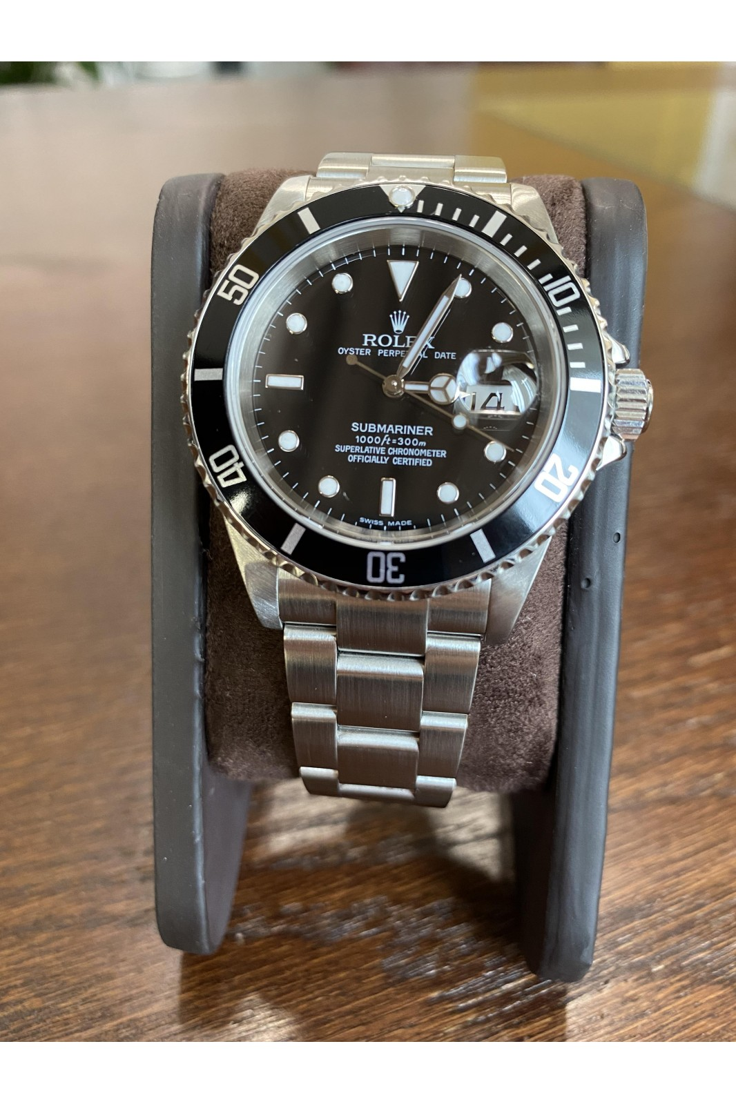 ROLEX SUBMARINER DATE OYSTER PERPETUAL BLACK REF: 16610T