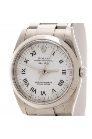 ROLEX OYSTER PERPETUAL AIR KING WHITE DIAL REF: 114200