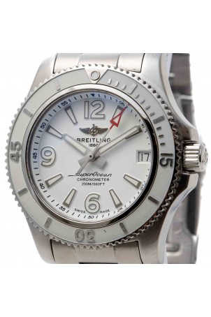 BREITLING SUPEROCEAN AUTOMATIC WHITE 36MM STEEL REF: A17316