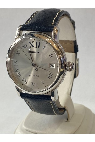 MONTBLANC STAR MEISTERSTUCK 36MM AUTOMATIC SILVER REF: 7042
