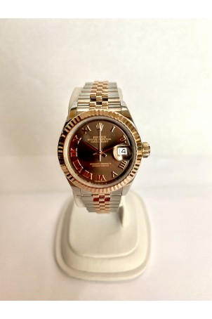 ROLEX DATEJUST LADY 28MM GOLD&STEEL CHOCOLATE DIAL JUBILEE REF: 279171