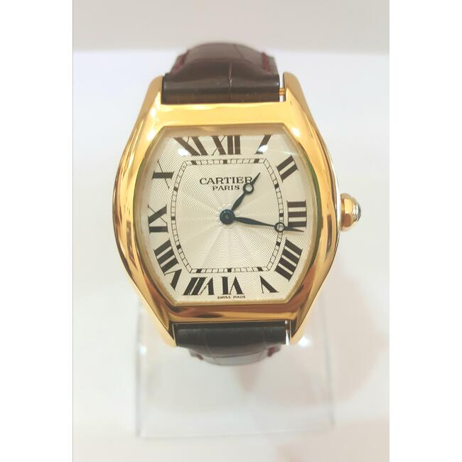 CARTIER TORTUE 18 K YELLOW GOLD BLUE SAPPHIRE