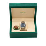 ROLEX DATEJUST STAINLESS STEEL WATCH BLUE DIAL