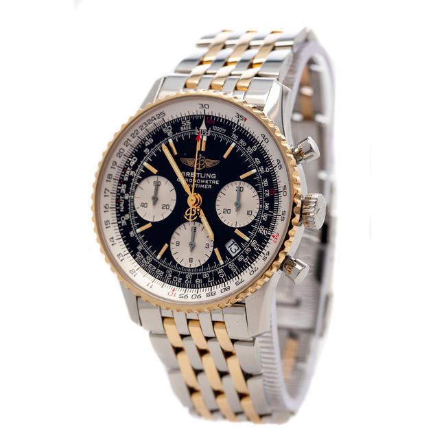 BREITLING NAVITIMER STEEL & GOLD CHRONOMETER