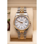 ROLEX DATEJUST STEEL & 18K GOLD JUBILEE WHITE DIAL
