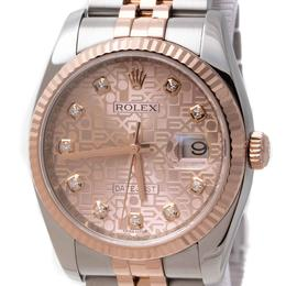 ROLEX DATEJUST OYSTER PERPETUAL 36MM STEEL & 18K ROSE PINK GOLD