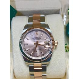 ROLEX DATEJUST LADY PINK DIAL18 K 2 TONE ROSE GOLD