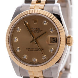 ROLEX DATEJUST OYSTER PERPETUAL 31 MM STEEL YELLOW GOLD DIAMONDS