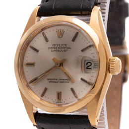 ROLEX DATEJUST OYSTER PERPETUAL 18K YELLOW GOLD