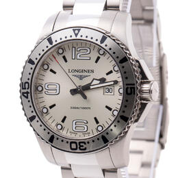 LONGINES  HYDROCONQUEST 40 MM QUARTZ SILVER DIAL