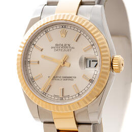 ROLEX DATEJUST 31MM STEEL AND YELLOW GOLD - FLUTED BEZEL