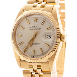 ROLEX DATEJUST 18K YELLOW GOLD OYSTER PERPETUAL VINTAGE