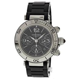 CARTIER PASHA SEATIMER BLACK PVD 42MM CHROGRAPH
