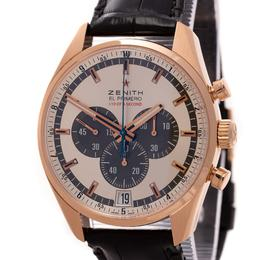 ZENITH EL PRIMERO STRIKING 10TH CHRONOGRAPH 18K ROSE GOLD
