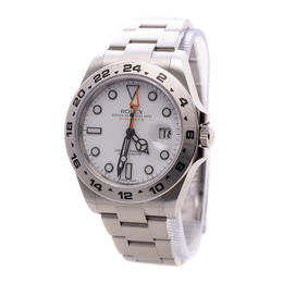 ROLEX EXPLORER II OYSTER PERPETUAL DATE WHITE DIAL