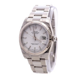 ROLEX DATEJUST 36 OYSTER PERPETUAL STEEL WATCH