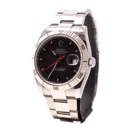 ROLEX DATEJUST TURN-O-GRAPH BLACK DIAL