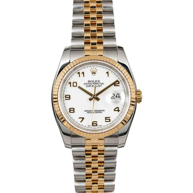 ROLEX DATEJUST OYSTER PERPETUAL STEEL & GOLD 36MM