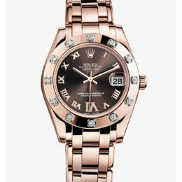 ROLEX DATEJUST PEARLMASTER18KA GOLD EVEROSE SPECIAL EDITION