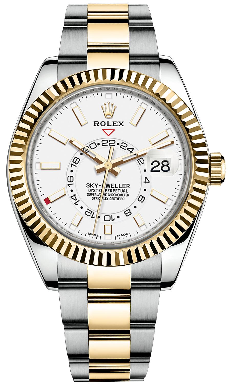 ROLEX SKY-DWELLER 42MM 18K YELLOW GOLD/STEEL ANNUAL CALENDAR REF: 326933