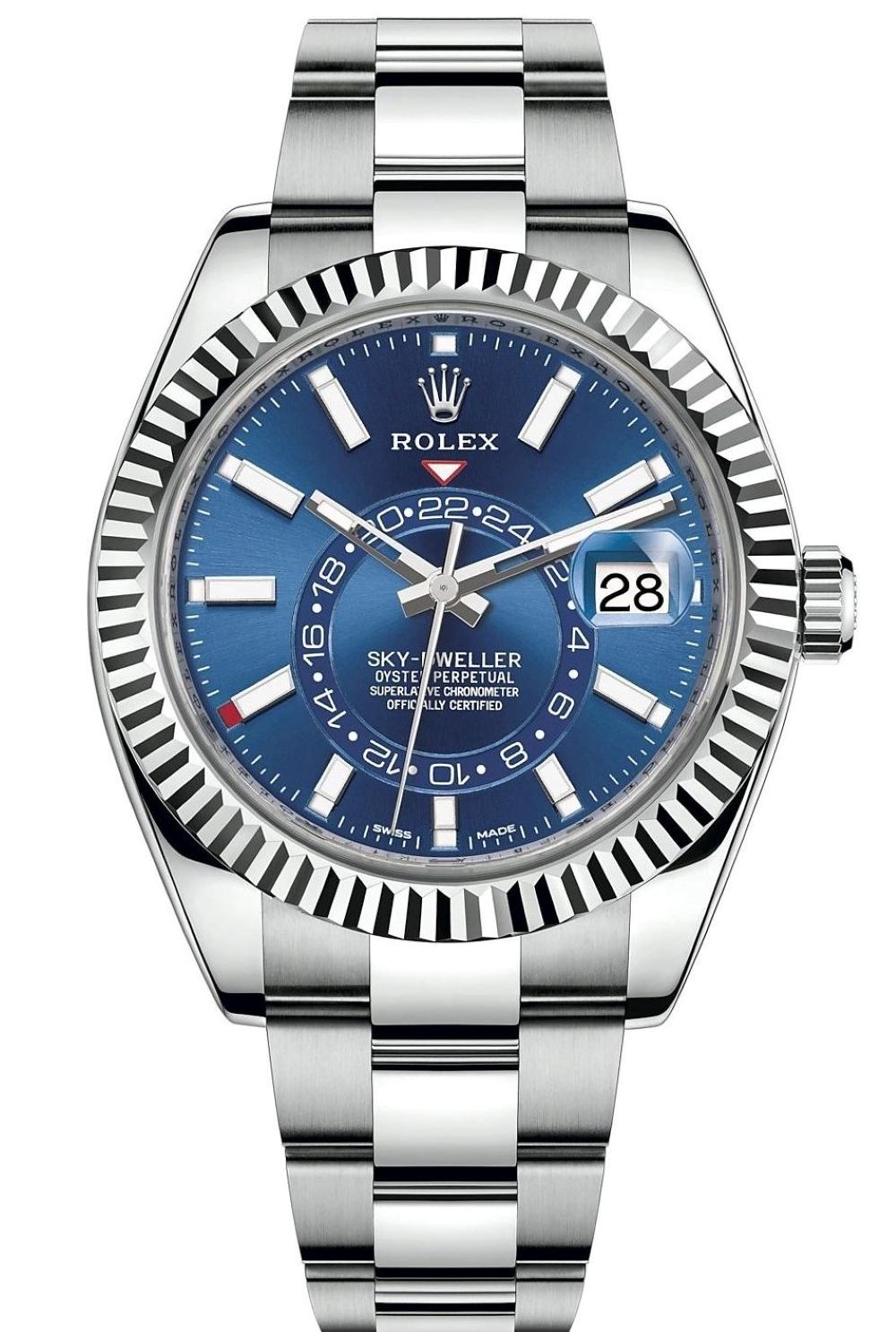 ROLEX SKY-DWELLER BLUE DIAL 42MM FULL SET REF: 326934