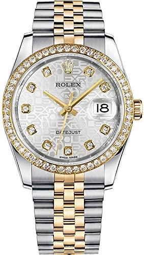 ROLEX DATEJUST 36 STEEL&GOLD ORIGINAL DIAMONDS SETTING REF: 116243