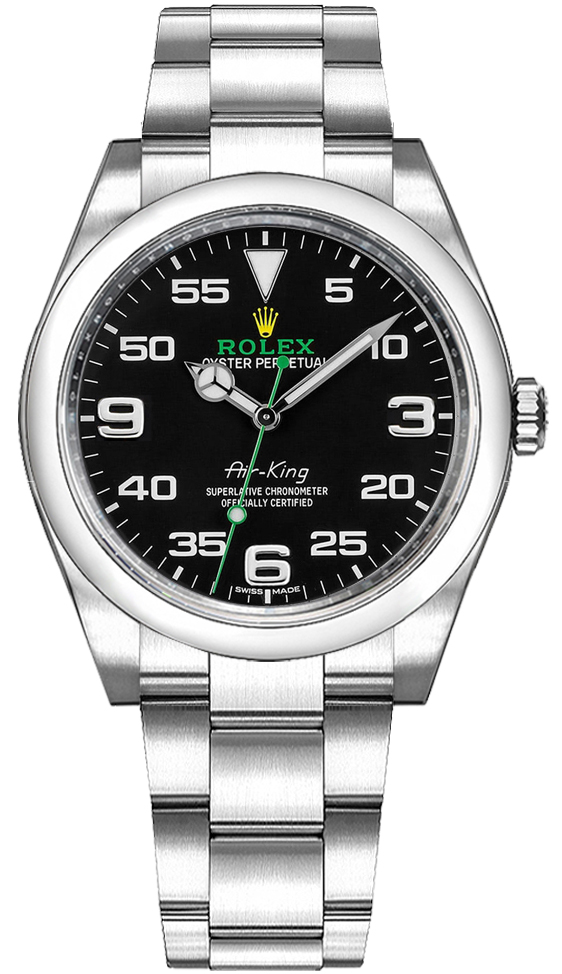 ROLEX OYSTER PERPETUAL AIR-KING 40MM BLACK DIAL REF: 116900