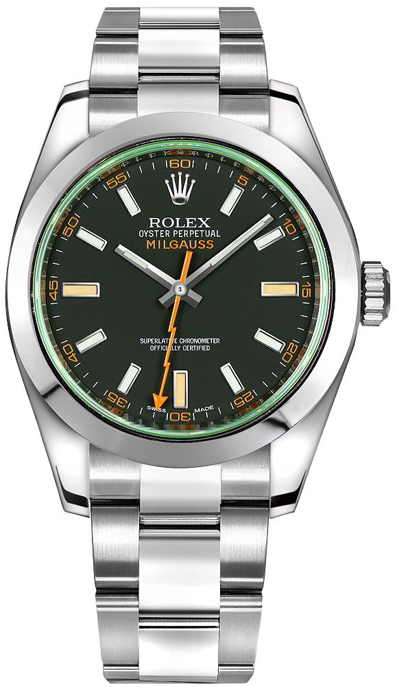 ROLEX MILGAUSS GREEN 40MM STEEL REF: 116400GV