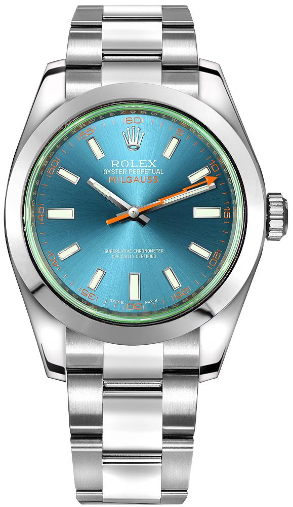 ROLEX MILGAUSS 40MM STEEL BLUE DIAL REF: 116400GV