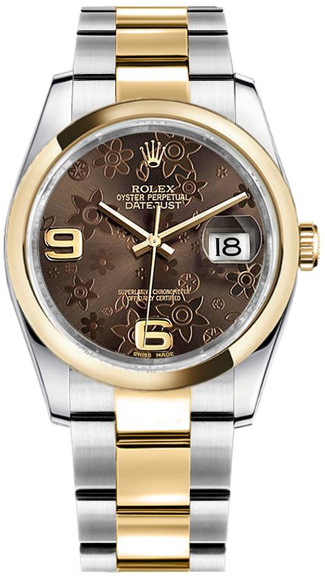 ROLEX DATEJUST GOLD&STEEL ORIGINAL DIAMOND SETTING REF: 116243