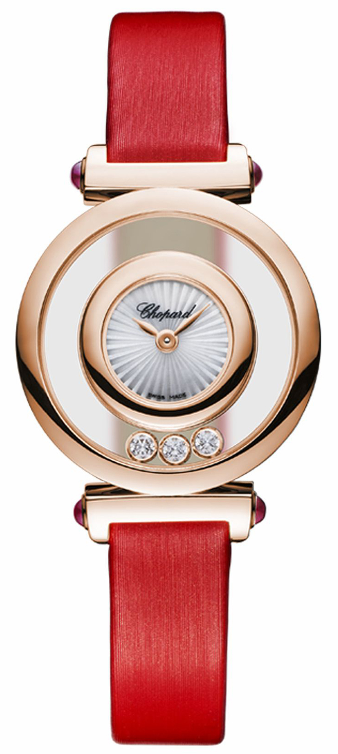 CHOPARD HAPPY DIAMONDS ICONS 26MM ROSE GOLD REF: 204780-5201