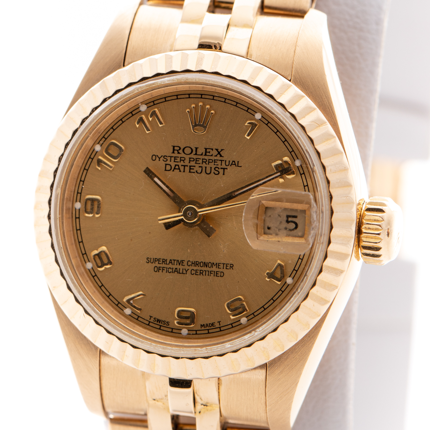 ROLEX DATEJUST 18K YELLOW GOLD OYSTER PERPETUAL VINTAGE REF: 69168