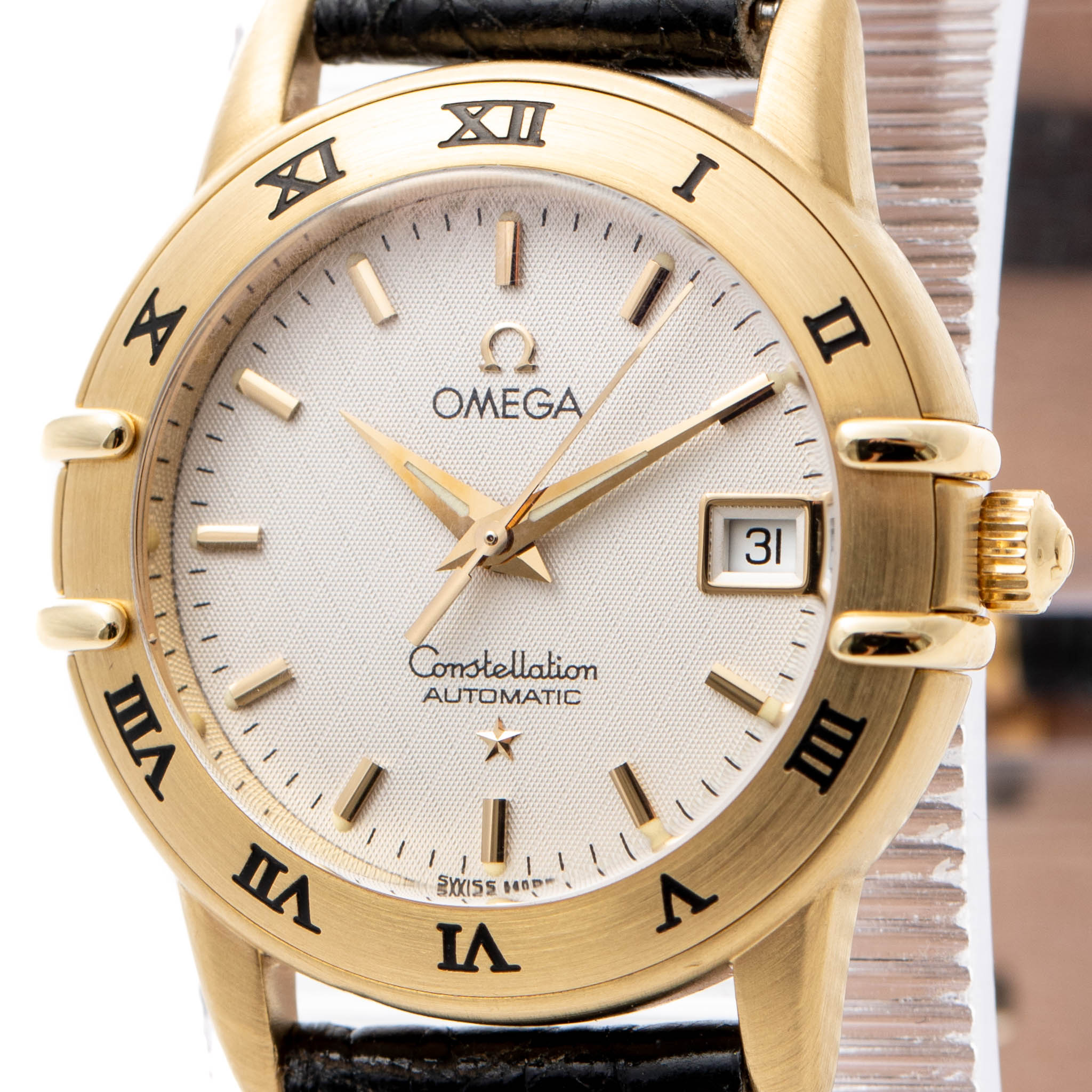 OMEGA CONSTELLATION 18K YELLOW GOLD AUTOMATIC 27MM