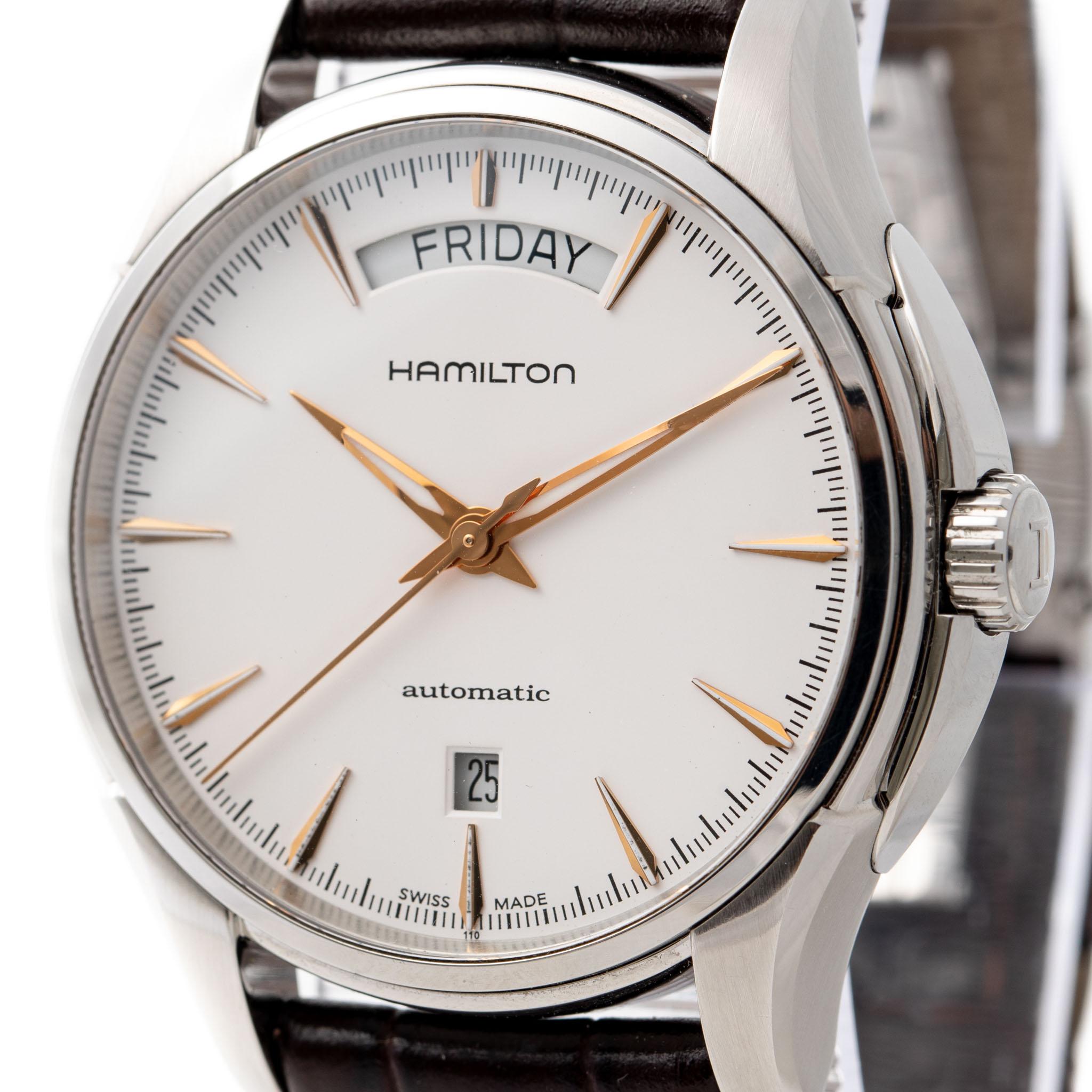 HAMILTON JAZZMASTER DAY DATE STEEL DATE REF: H325050