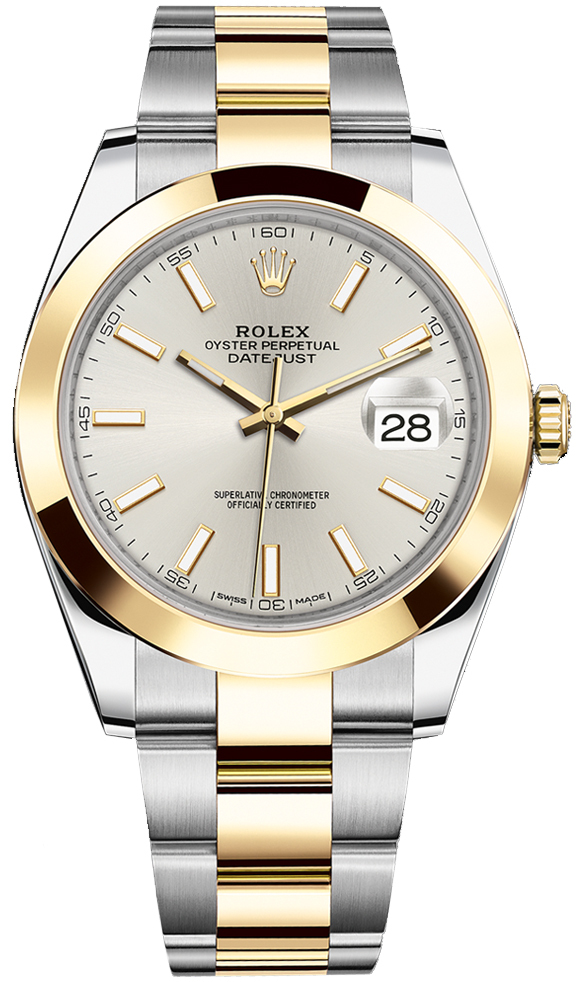 ROLEX DATEJUST 41MM TWO-TONE GOLD&STEEL SILVER DIAL REF: 126303
