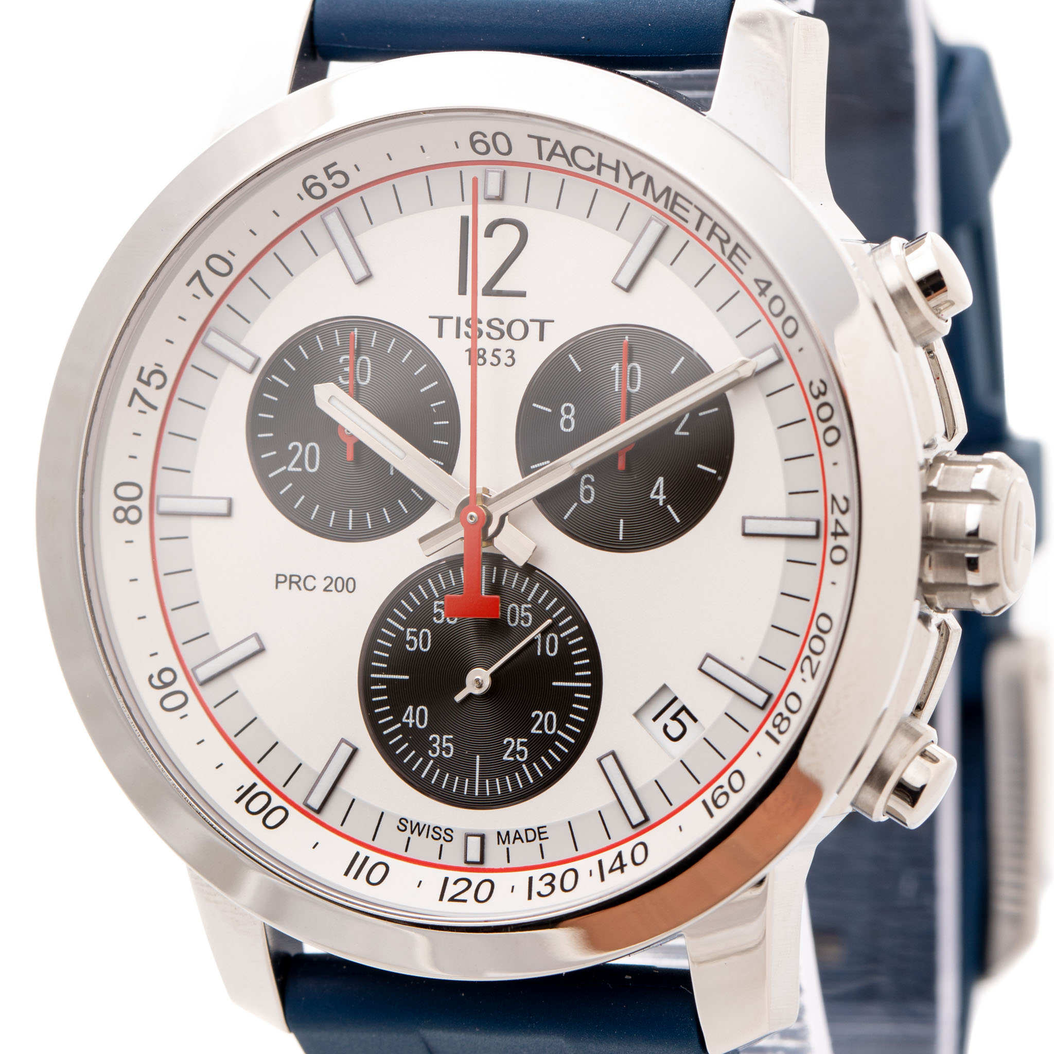 TISSOT PRC 200 SPECIAL EDITION 42MM CHRONOGRAPH WHITE DIAL REF: T114.417