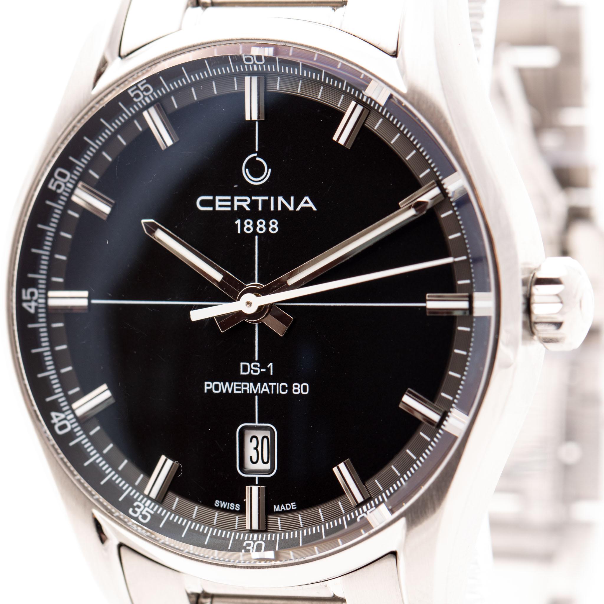 CERTINA DS-1 POWERMATIC 80 STEEL BLACK DIAL 40MM REF: C029407