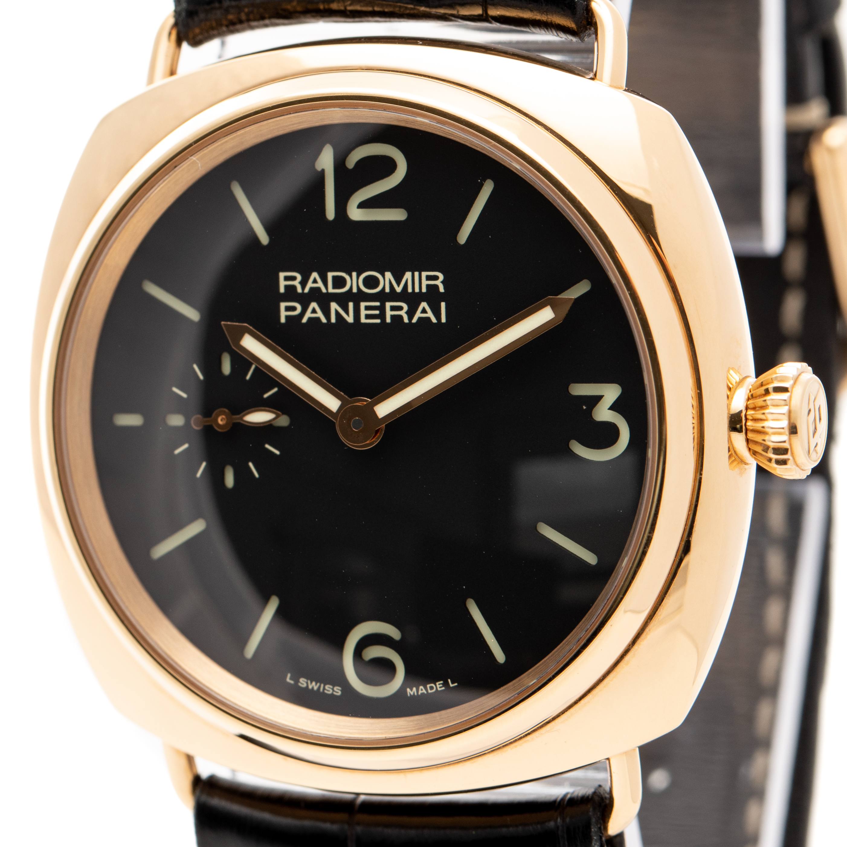 PANERAI RADIOMIR FIRENZE 1860 18K ROSE GOLD MANUAL WINDING 42MM REF: PAM00336